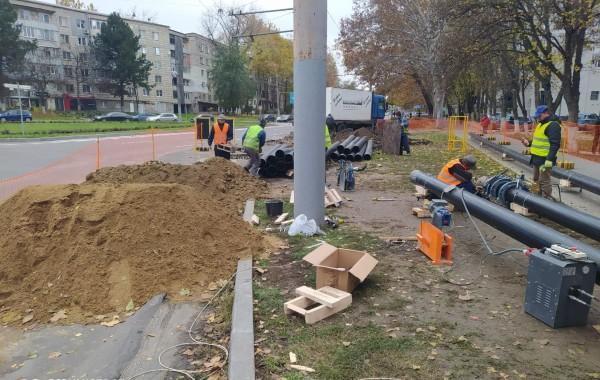 В Кишиневе начали ремонтировать улицу Иона Крянгэ